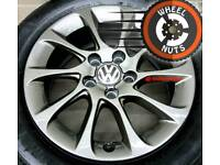 "16"" Genuine alloys VW Golf Caddy perfect cond premium tyres."