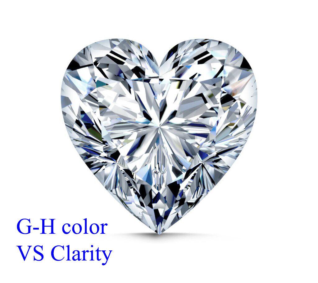 LOT Natural Finest Diamond Melee - Heart Shape- VVS2-VS1- G-H GIA Screened