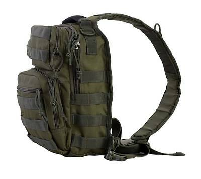 Bolso bandolera viaje verde oliva casual mochila hombro 10 L juvenil militar