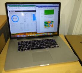 MacBook Pro 17 Full HD Core i5 250GB SSD 8GB RAM High Sierra and MS Office 2016 installed