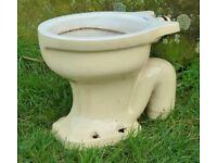 Old Vintage 50's Shanks Toilet Bowl - Garden Planter