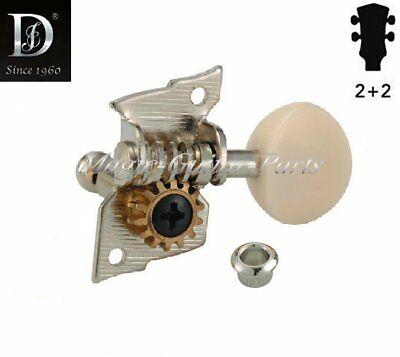 DER JUNG DJ227UN-SI, Mechaniken für Ukulele, 2+2, vernickelt,  Ü=1:14,