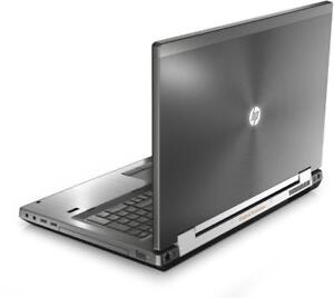hp workstation 8760w 17 laptop(i7Quad/8G/500G+128SSD/Webcam/FHD Display/2G GPU)
