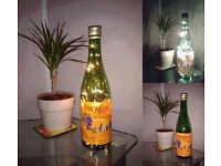 Upcycled and Hand Made Buckfast Bottle Lamp Gift