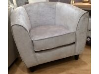 Velvet Tub Arm Chair One Seater