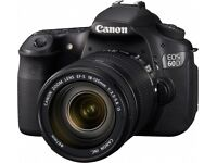 Canon EOS 60d DSLR with kit 18-55mm lens
