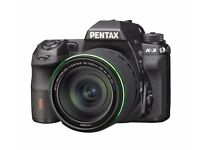 Like new - Pentax K-3 SLR Camera 18-135 WR Lens Kit Black 24MP 3.2LCD FHD ( 28 actuations!!!)