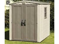 Keter factor shed 6x6 new 1/2 in box