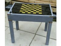 Chess, backgammon and card table