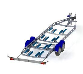 Bramber 2850KG max bot weight robot cut robot cut boat trailer