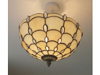 Ceiling Pendant - inverted Tiffany style. 2 available at £20 each