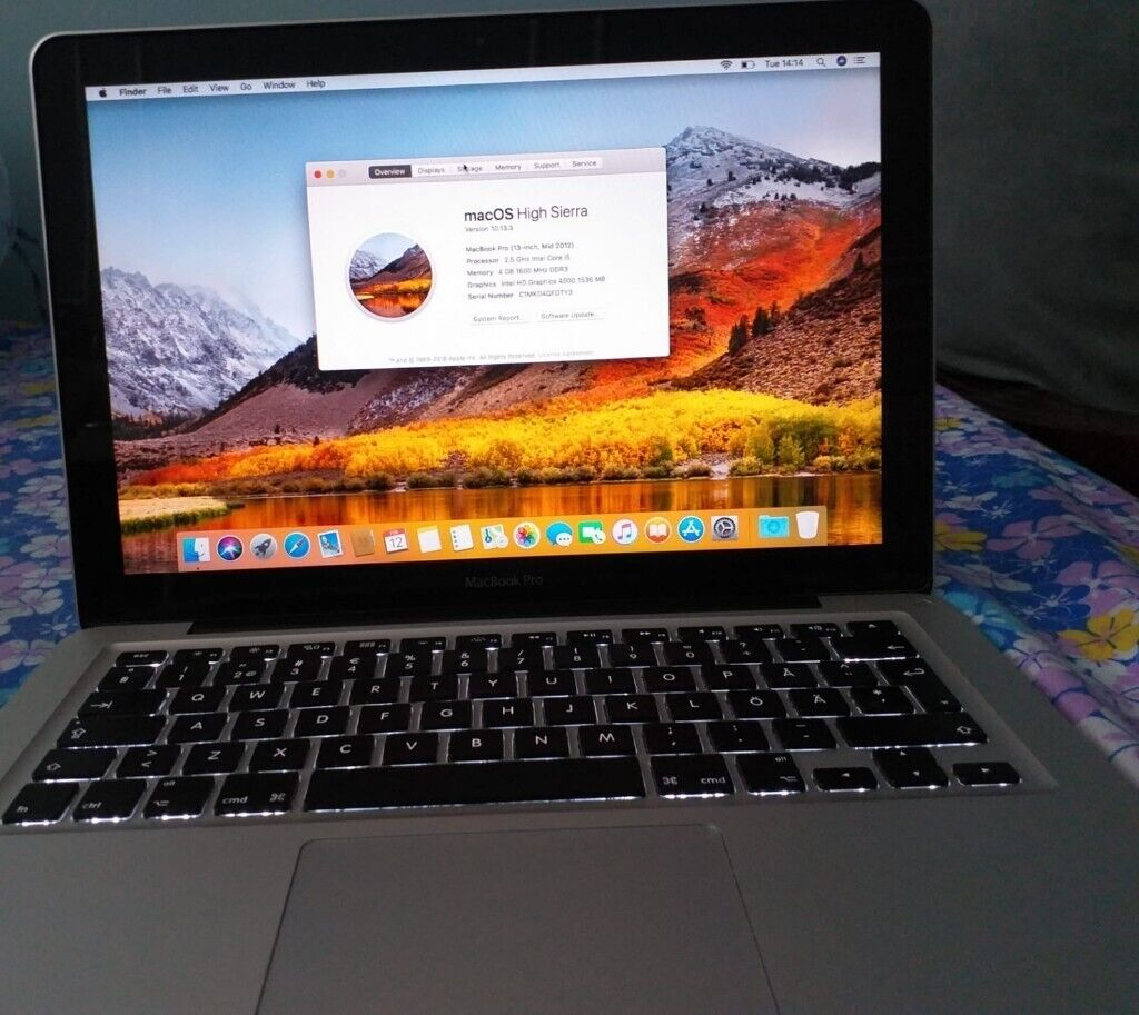 MacBook Pro 13 3'',Core i5,2 5GHz,500GB HDD,8GB RAM,OSX MOJAVE ,MAC OFFICE  INSTALLED | in Newham, London | Gumtree