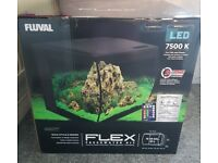 57 Litre Fluval LED flex glass fish tank brand new