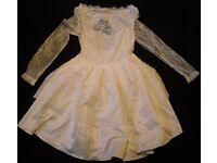 ROPALIA WHITE WEDDING PROM EVENING COCKTAIL SHORT DRESS SIZE M /UK 10