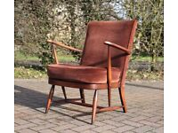 Vintage blue label Ercol armchair - delivery available