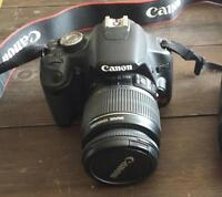 Canon Rebel T1i camera with 18-55mm lens