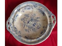China fruit bowl with handles