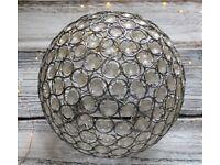 Clear Crystal Light Globe Shade Round Shape Ball Chrome Finish