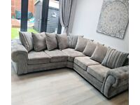 ELLA 2 Corner 2 Large sofa -Grey -Brand New