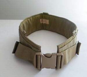 NEW-Military-MOLLE-Eagle-Industries-Padded-War-Belt-Khaki-Sz32-FSBE-MLCS-SFLCS