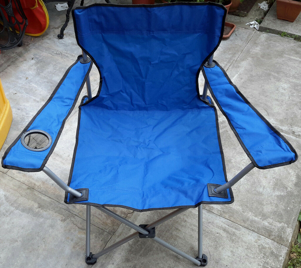 ARGOS Folding Camping Chair £5! BARGAIN! BRAND NEW! With Integrated Drink Holder! For Garden Beach