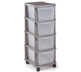 Home 4 drawer storage plastic tower