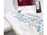 LARGE PFAFF EMBROIDERY MACHINE UNIT FOR PFAFF CREATIVE PERFORMANCE SENSATION 4.5 + 3 HOOPS