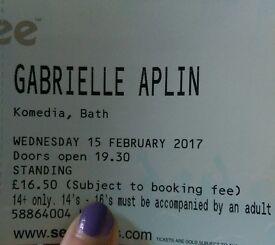 2x Gabrielle Aplin tickets @ Komedia, Bath on 15th Feb