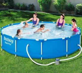 Bestway Family Outdoor Garden Swimming Pool (HUGE) 366cm/84cm 12 FT Above Ground (NEW, SEALED)