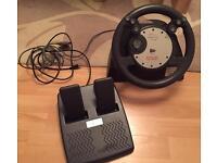 PS1 Steering Wheel & Peddals