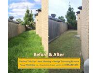Garden maintenance -Grass cutting services- Garden tidy up near me-Lawn mowing guy - Local gardener