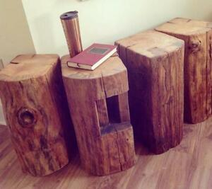 Large Barn Beam Block Side Tables - Locally Reclaimed