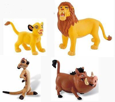 Disney König der Löwen Bullyland Figuren Set Baby Löwe, Simba, Timon und Pumbaa