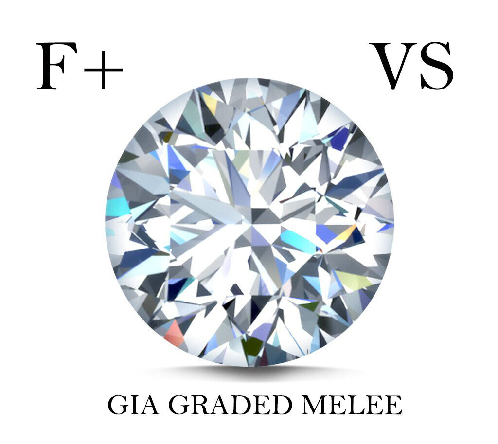 LOT Natural Finest Diamond Melee - Round - VVS2-VS1- F+ GIA High Grading Quality