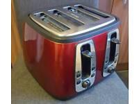 Russell Hobbs Heritage 4-slice Toaster 19160 - Metallic Red.