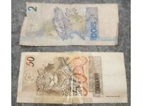 52 Brazilian Real (2 & 50 note)