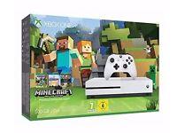 Microsoft Xbox One S 500GB 4K UHD White Console Minecraft Favourites Bundle BRAND NEW, SEALED BOX!
