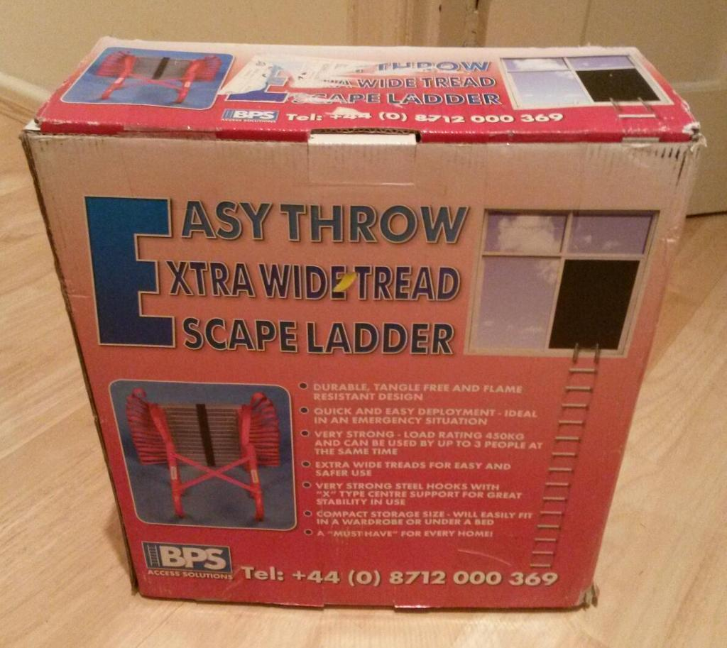 EASY THROW Escape Ladder(you must have one)