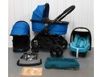 iCandy Peach 3 in Cobalt with BRAND NEW Maxi Cosi Cabriofix Car Seat