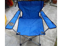 ARGOS Folding Camping Chair £5! BARGAIN! BRAND NEW! With Integrated Drink Holder! For Garden! Beach!