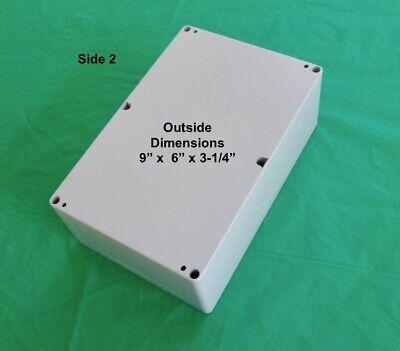 Plastic Project Box Electronic Enclosure L9 W6 H3-14. 1pc New