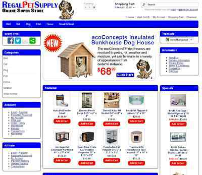 Pet supply products turnkey website for sale - Established Domain & Website