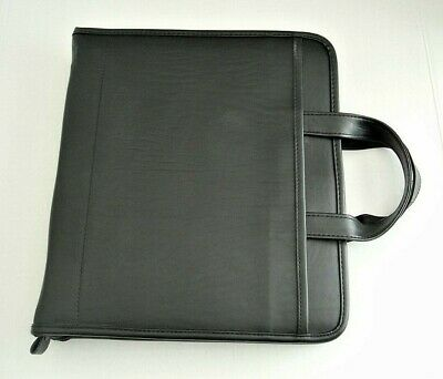 Avery Power Case 3 Ring Planner Binder Organizer Black Faux Leather