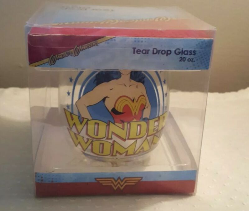 Collectible Wonder Woman Tear Drop Wine Glass - NEW (licensed by Silver Buffalo)