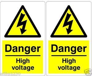 100 Danger high Voltage Electrical Warning Safety Labels decal sticker
