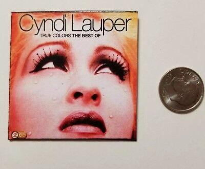 Miniature record album  AG Barbie Gi Joe 1/6    Playscale Cyndi Lauper Best of