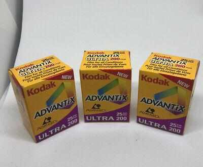 3X Kodak Advantix Ultra 200 24mm Film expired READ DESCRIPTION