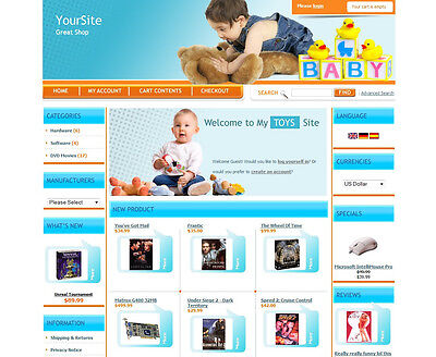 Baby Store Business Professional Ecommerce Online Store Shopping Cart Website
