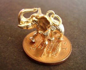 BEAUTIFUL 9CT GOLD '  ELEPHANT '  CHARM CHARMS