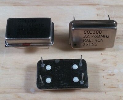 5pcs Raltron Co1100 32.768 Mhz Clock Crystal Oscillator 100ppm 5v 14 Pin Dip